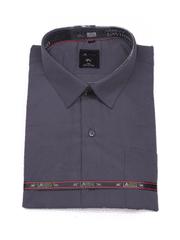 Laviino ItalyStyle Tmavě šedá pánská košile s dlouhým rukávem MS-96 slim fit Velikost: EU 39/40
