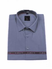 Laviino ItalyStyle Šedomodrá košile s dlouhým rukávem MS-7 slim fit Velikost: EU 38/39