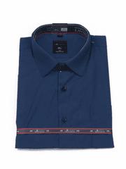Laviino ItalyStyle Tmavě modrá košile s krátkým rukávem MK-16 Velikost: EU 38/39