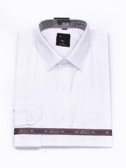 Laviino ItalyStyle Společenská bílá pánská košile s dlouhým rukávem M-13 Velikost: EU 40/41