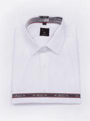 Laviino ItalyStyle Bílá pánská košile 3XL-8XL s krátkým rukávem NWK-13 Velikost: EU 47/48