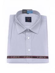 Laviino ItalyStyle Společenská světle šedá pánská košile 3XL-9XL s dlouhým rukávem NW-10 Velikost: EU 47/48