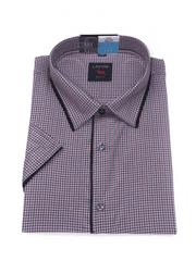 Laviino ItalyStyle Kostkovaná košile s krátkým rukávem TSK64-2 slim fit Velikost: EU 38/39