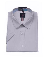 Laviino ItalyStyle Šedá pánská košile s krátkým rukávem TSMK-10B slim fit Velikost: EU 38/39