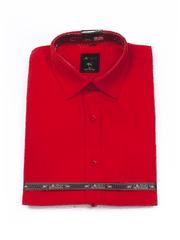 Laviino ItalyStyle Sytě červená košile s krátkým rukávem MK-47 Velikost: EU 38/39