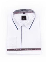 Laviino ItalyStyle Společenská bílá pánská košile 3XL-9XL s dlouhým rukávem TS210-13 Velikost: EU 47/48