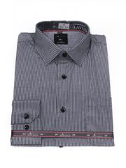 Laviino ItalyStyle Šedá košile s proužkem a dlouhým rukávem NDT10-4 Velikost: EU 38/39