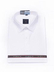 Laviino ItalyStyle Bílá pánská košile s dlouhým rukávem MS-13 slim fit Velikost: EU 40/41