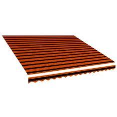 Tieniaca plachta na markízu, plátená, oranžovo hnedá 400x300 cm