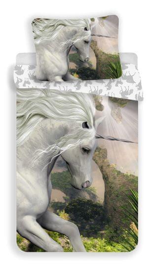 Jerry Fabrics Obliečky Jednorožec, biela