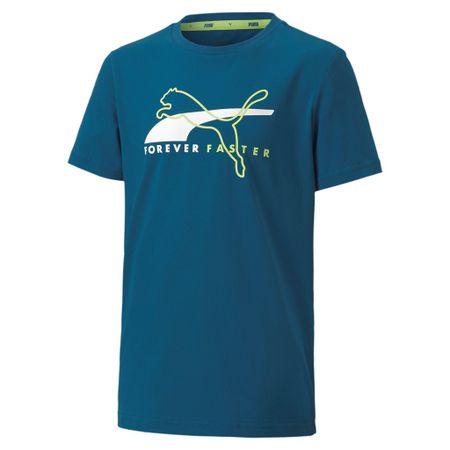 Puma Alpha Graphic Tee B majica za dječake, plava, 104