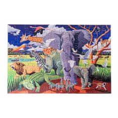 Crocodile Creek Puzzle s plagátom Safari v tube 100ks