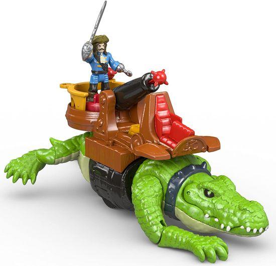 Fisher-Price Imaginext Krokodíl a pirát Hook