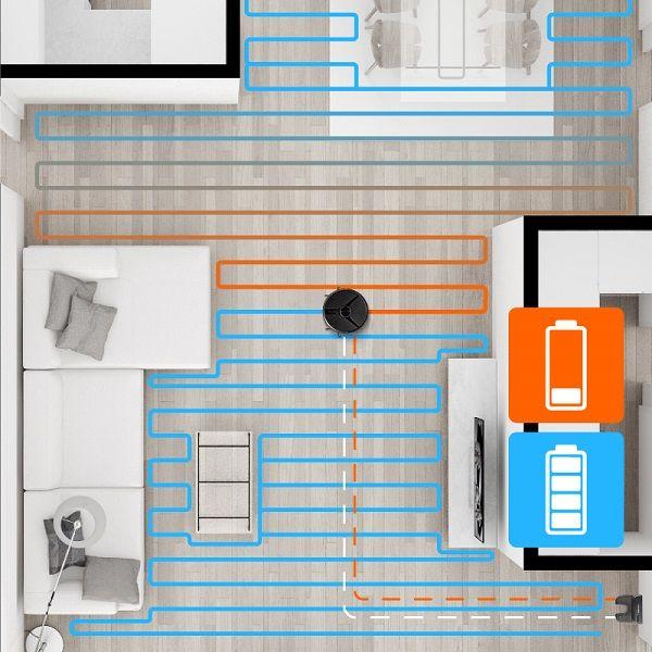Robotický vysavač Concept VR3110 2 v 1 RoboCross Laser