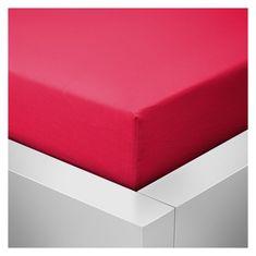 Povlečeme vše Jersey Prostěradlo do postýlky Top - Červená, 60x120 cm