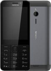 Nokia 230 Single SIM, černá - rozbaleno
