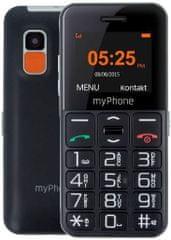 myPhone Halo Easy, čierny