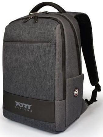 Port Designs Boston ruksak, 35,6 cm, sivi
