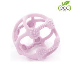 Bo Jungle silikónové hryzátko B-BALL Pastel Pink