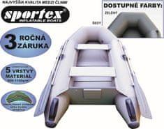 SPORTEX-člny Rybárske člny Shelf 230 s lamelovou podlahou šedý