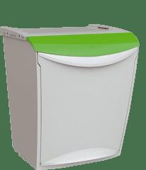 Denox Odpadkový koš na tříděný odpad 25 litrů Zelená