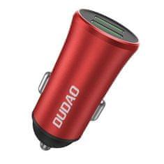 DUDAO R6S autós töltő 2x USB 3.4A, piros