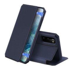 Dux Ducis Skin X bőr könyvtok Samsung Galaxy S20, kék