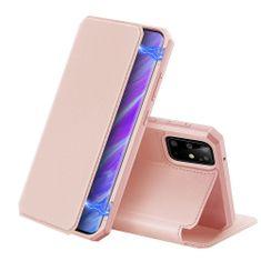 Dux Ducis Skin X knížkové kožené pouzdro na Samsung Galaxy S20 Plus, růžové