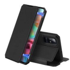 Dux Ducis Skin X knížkové kožené pouzdro na Samsung Galaxy A71, černé