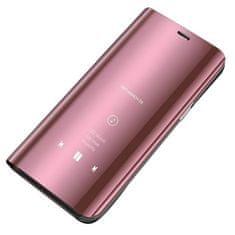 MG Clear View knjižni ovitek za Samsung Galaxy S10 Lite, roza