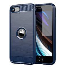 MG Carbon Case Flexible szilikon tok iPhone SE 2020, kék