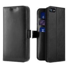 Dux Ducis Kado knížkové kožené pouzdro na iPhone 7/8/SE 2020, černé