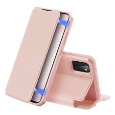 Dux Ducis Skin X knižkové kožené puzdro na Samsung Galaxy Note 10 Lite, ružové