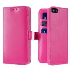 Dux Ducis Kado bőr könyvtok iPhone 7/8/SE 2020, rózsaszín