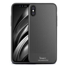 iPaky Carbon Fiber silikonski ovitek za iPhone XS Max, siva