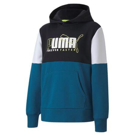 Puma Alpha Hoodie FL B pulover za dječake, plavi, 104