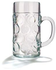 """Pivní sklo """"Isar"""" 1 l cejch, 6 ks"""