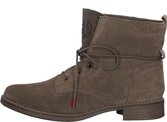 s.Oliver dámská kotníčková obuv 25201 37 hnědá