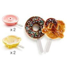 Lékué Tvořítka na nanuky ve tvaru donutů a preclíků Lékué Donut 2ks & Pretzel 2ks
