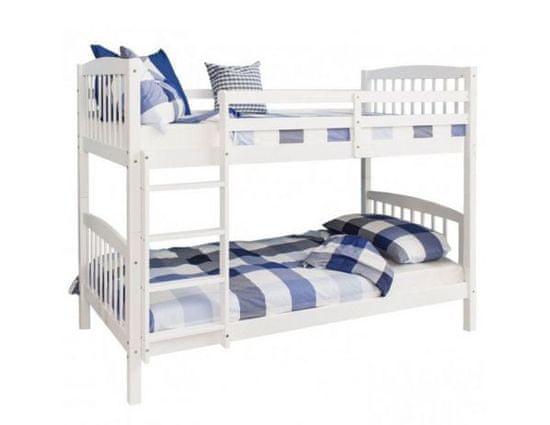 TEMPO KONDELA Patrová rozložitelná postel, bílá, RAVELO NEW