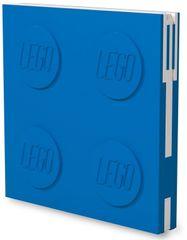 LEGO Zápisník s gélovým perom ako klipom - modrý