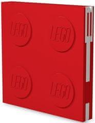 LEGO Zápisník s gélovým perom ako klipom - červený