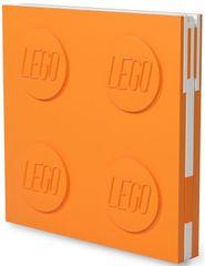 LEGO Zápisník s gélovým perom ako klipom - oranžový