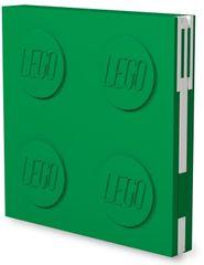 LEGO Zápisník s gélovým perom ako klipom - zelený