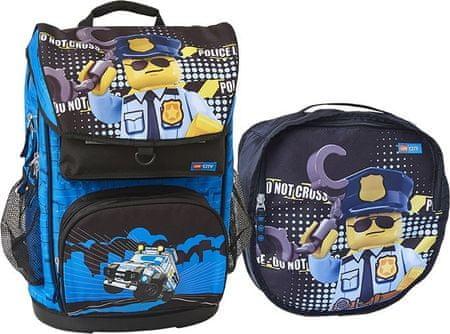 LEGO® City Police Cop Maxi - plecak szkolny , 2-częściowy zestaw