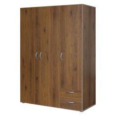 IDEA nábytek Skříň 3dveřová BEST ořech