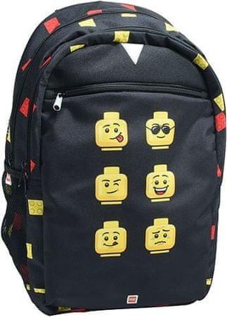 LEGO Faces Black ruksak Extended