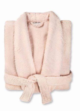 Möve Krótki szlafrok damski z szalikiem SANSSOUCI w kolorze różowym, rozmiar 44+
