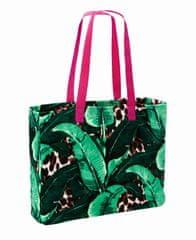 Möve Mała torba plażowa z kolekcji STEFFEN SCHRAUT BEACH, kop. drukuj liście bananowca, 45 x 37 cm