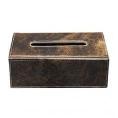 Mars & More Skórzane pudełko na papierowe chusteczki, brązowe